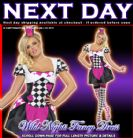 FANCY DRESS # SEXY LADIES JESTER CIRCUS CLOWN XS 4-6